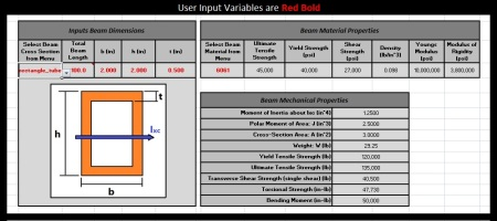 strength of materials screen shot