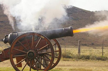 fire bullets, then cannonballs