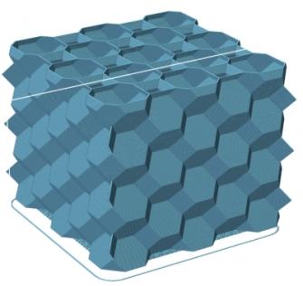 3d honeycomb infill