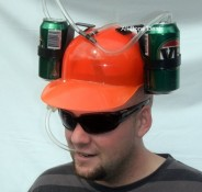 beer can hat