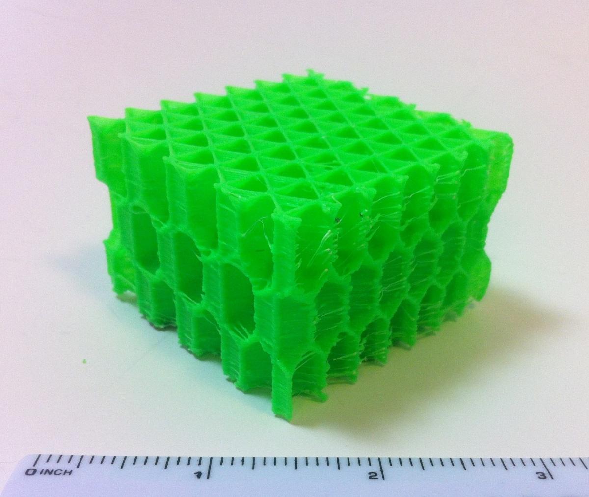 3D Printing a 3D Honeycomb Infill concept.