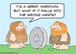 caveman and wheel invention
