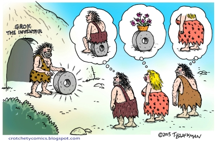 Caveman Shows off wheel