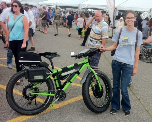 Kelly with Electric Bike