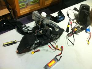Walking robot with bb gun