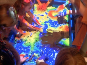 Kinetic Sand Light Show