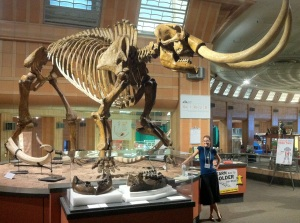 Kelly under Mammoth Skeleton