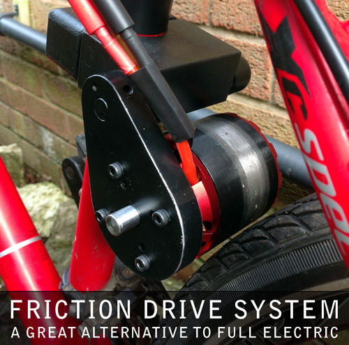Friction Drive Engine For Bicycle