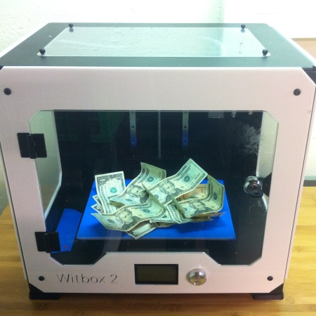 3d printing money machine